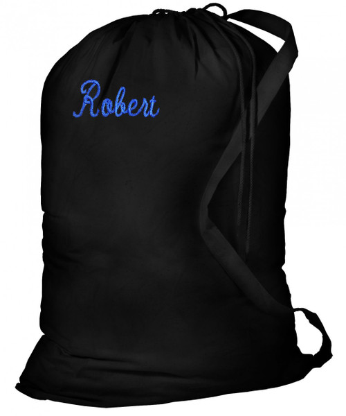 College Laundry Bags Black