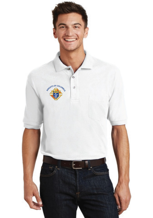 Knights of Columbus #2393 Polo Shirt  (priced by size $33 - $35)