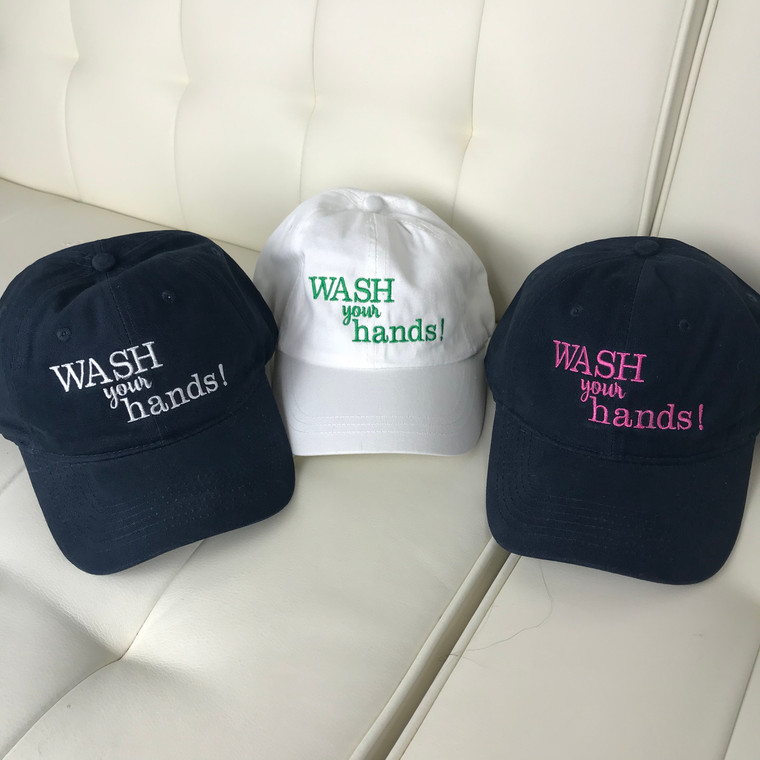 New!!!! Wash Your Hands Hats