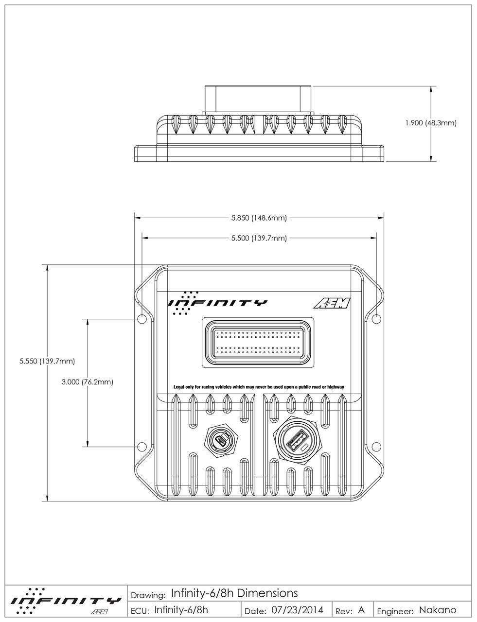 AEM Infinity Series 5 508 Programmable Engine Management System ECU -  Schnitz Racing | Aem Infinity 8 Wiring Diagram |  | Schnitz Racing