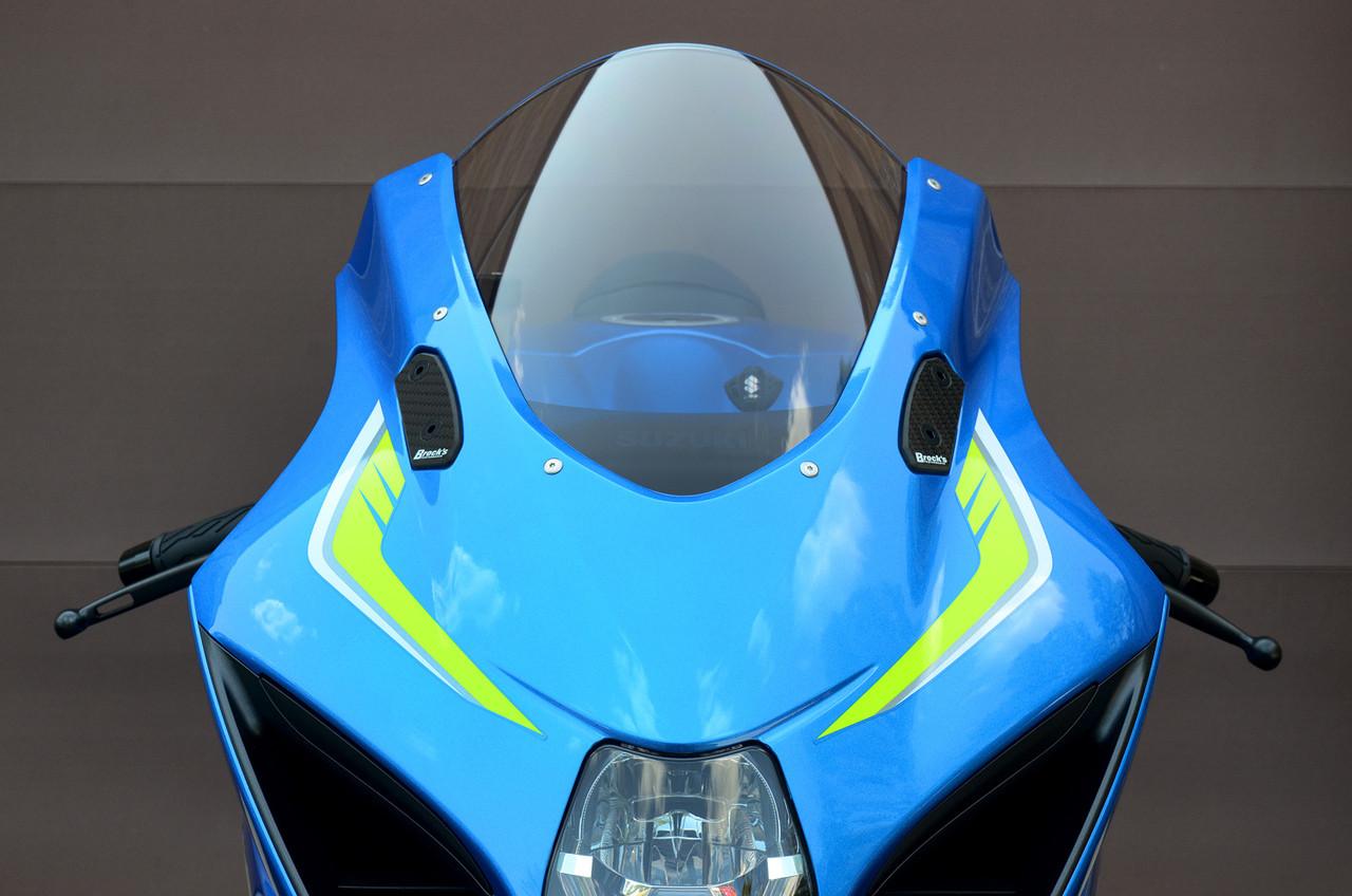 01-05 SUZUKI 600 750 01-04 GSXR 1000 BLUE MIRROR BLOCK OFF PLATES GP