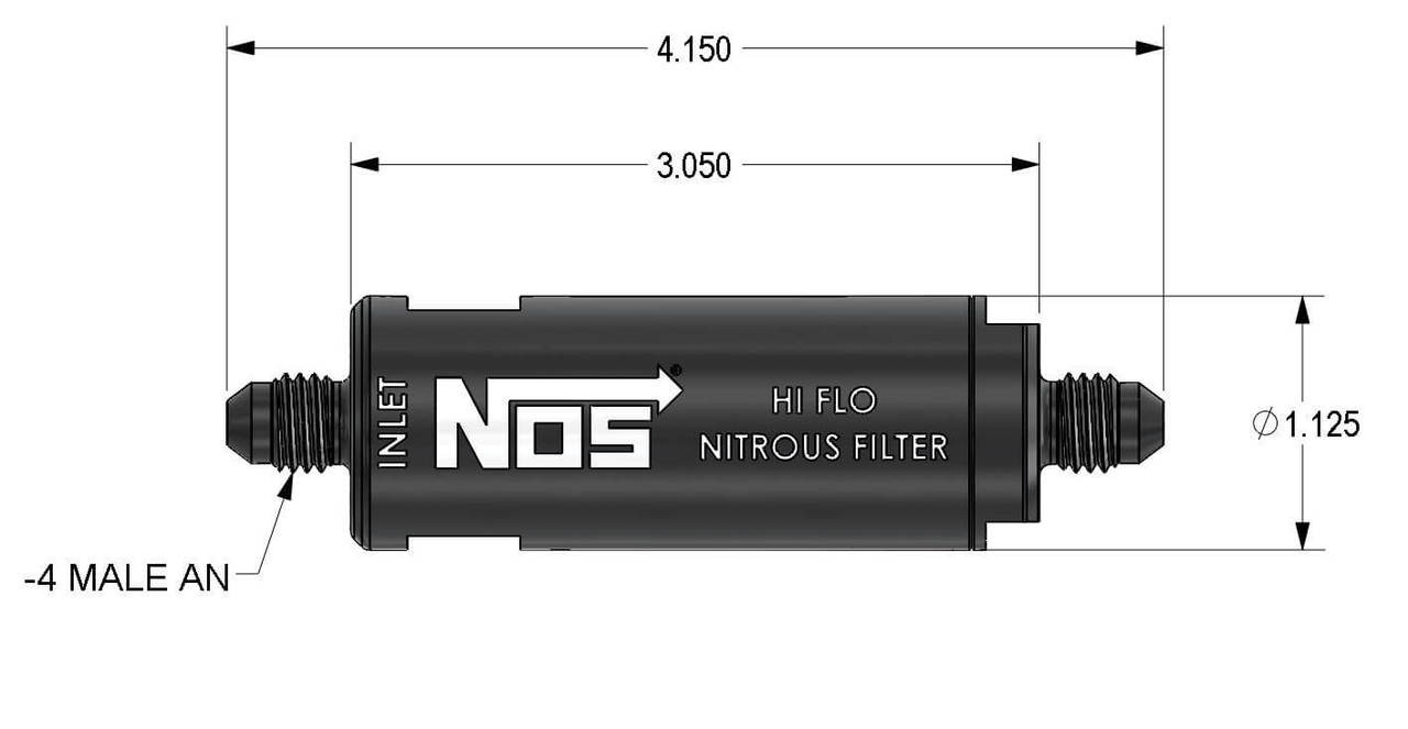 Nitrous Outlet 4AN Inline Nitrous Filter Old Style