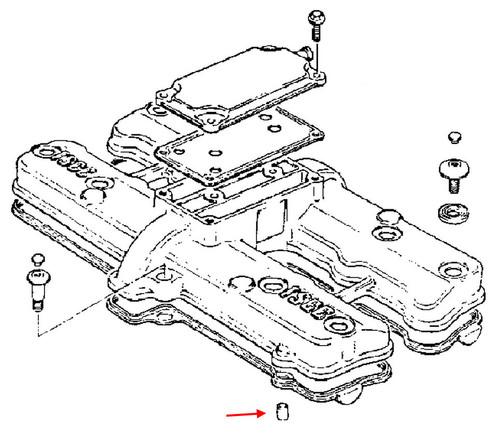 Suzuki Oem Cylinder Head Cover Pin Gs1100 Gs1150