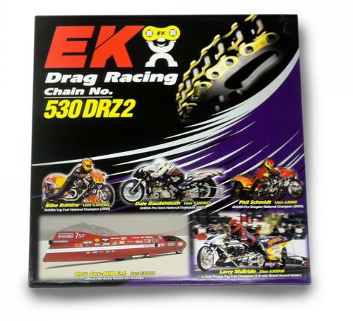EK Chain 530 DRZ2 Drag Racing 160 Links Chrome