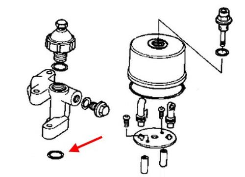 Kawasaki Oem Oil Pump O Ring Kz900 Kz1000 Kz1000j