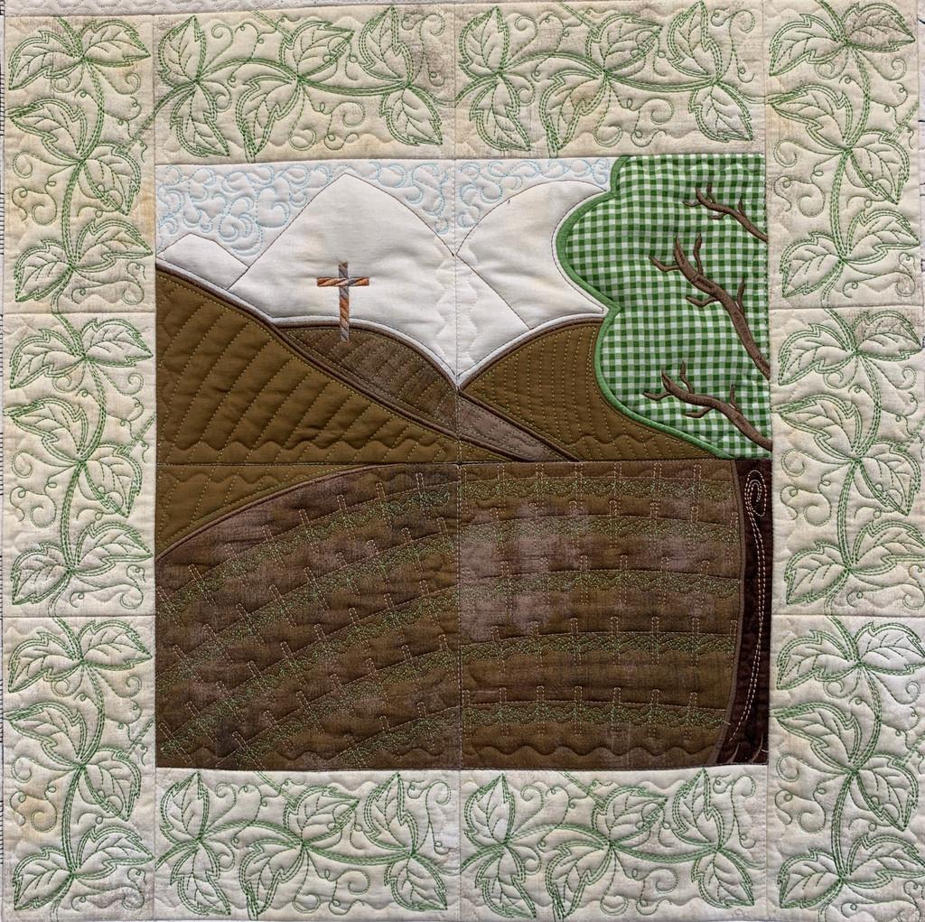 Vineyard Quilt Section - Digital Download