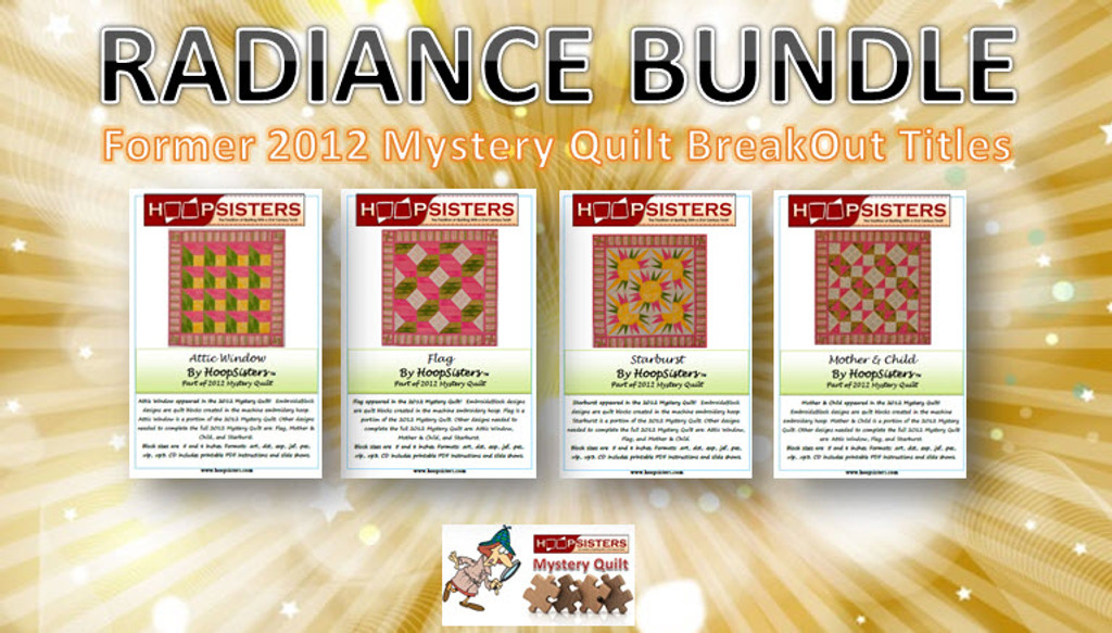 Radiance Bundle includes everything you need to complete the former 2012 Mystery Quilt pattern, Radiance!
