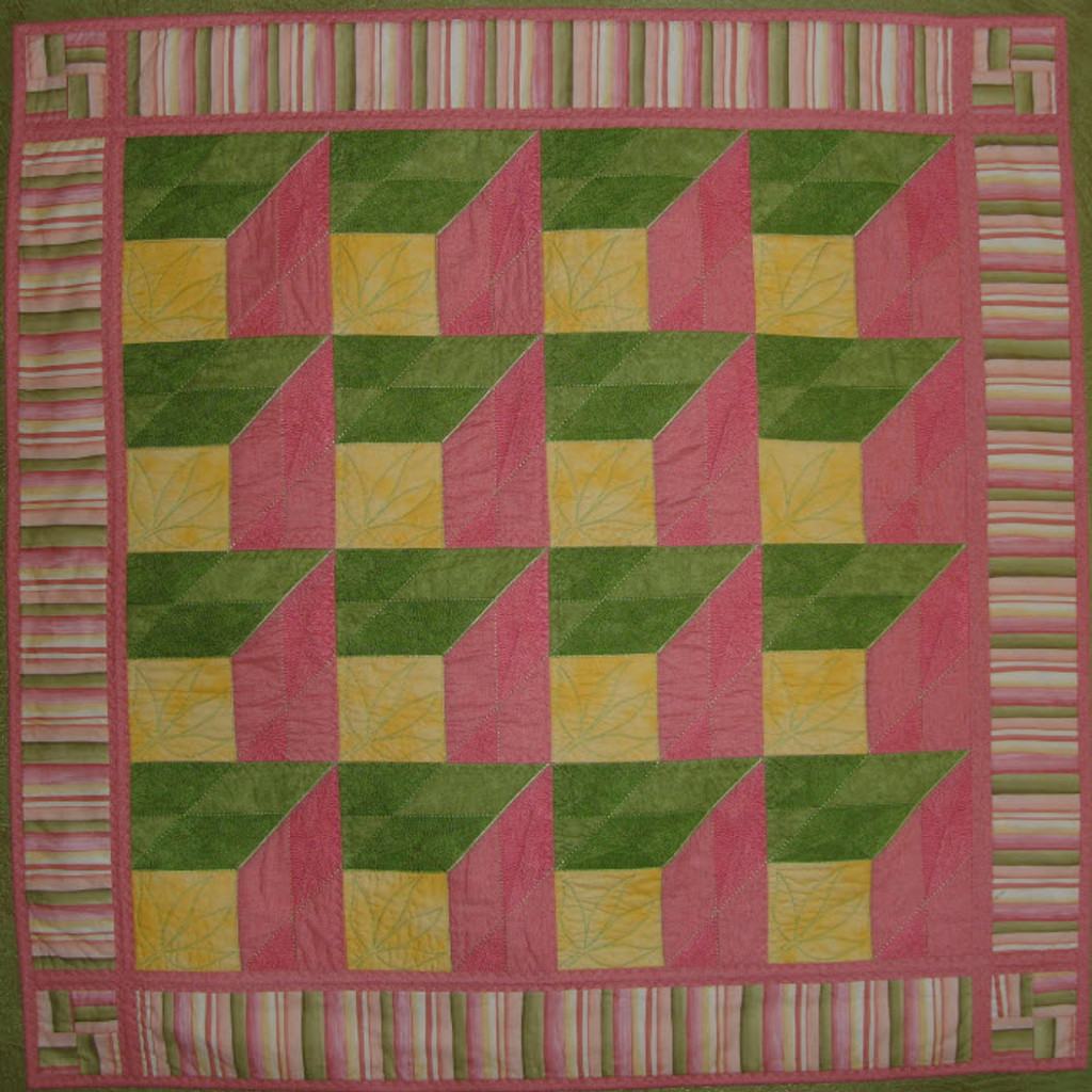 Attic Window! A block from the 2012 Mystery Quilt repeats to make this beautiful quilt.