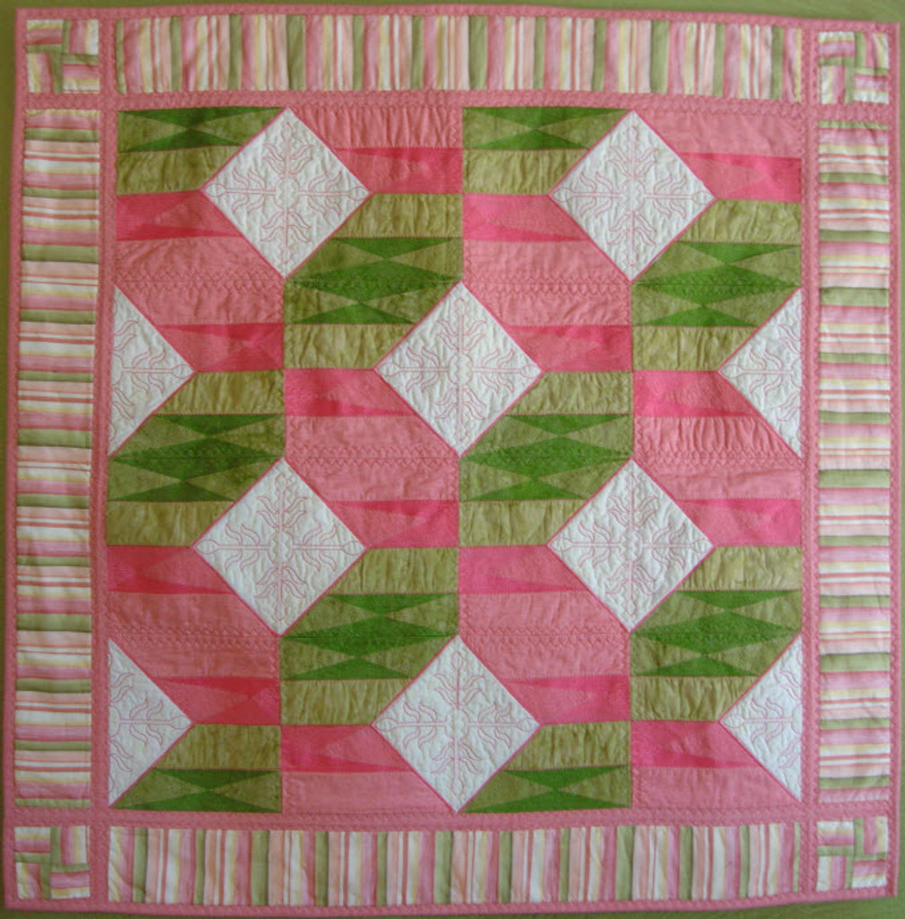 Flag! One block from the 2012 Mystery Quilt repeated to make this beautiful quilt.