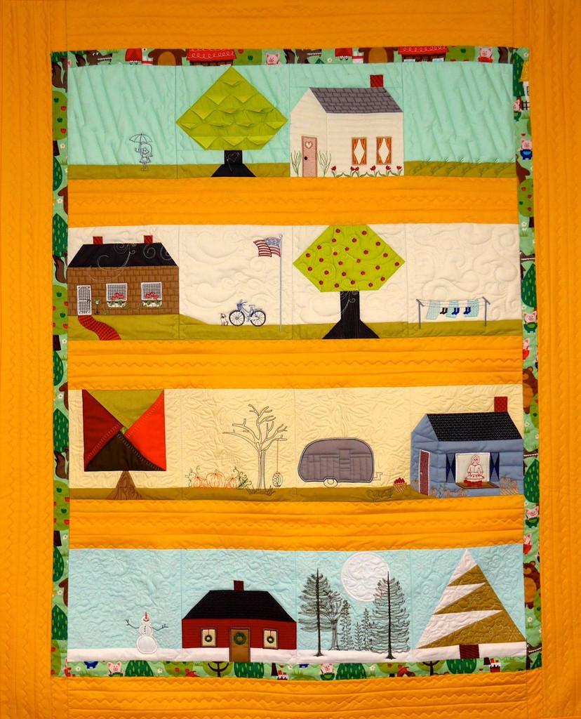 Where The Heart Is Row Quilt - Digital Download