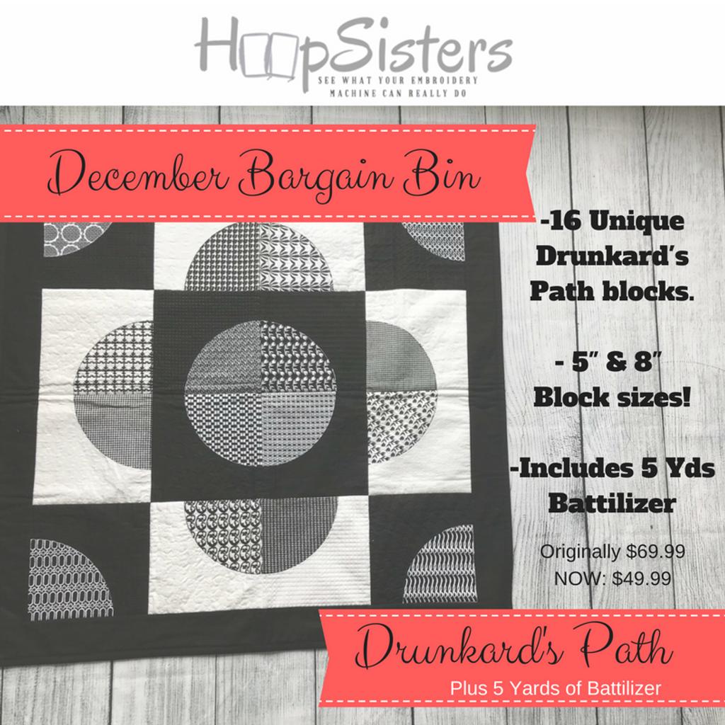 December Bargain Bin: Drunkard's Path