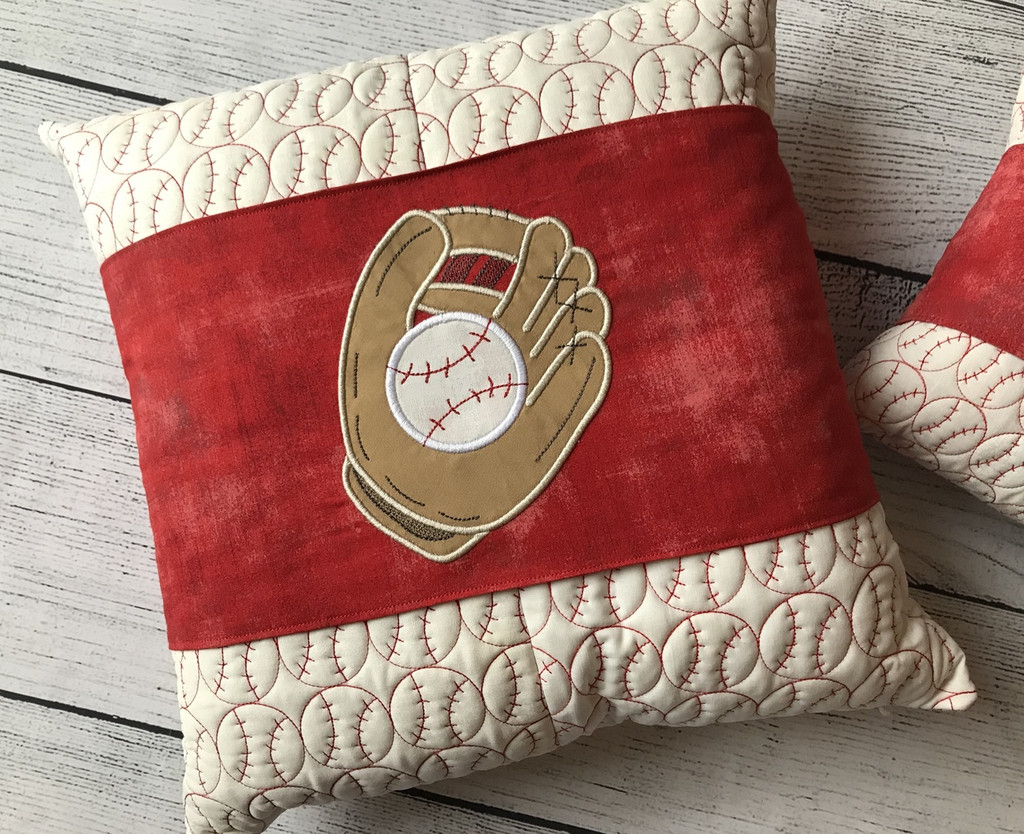 Baseball Pillows & Wrap with Button Covers!