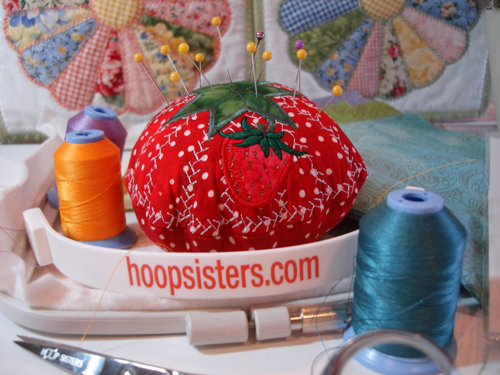 Free Pin Cushion Instructions with purchase of Dresden Plate design in the month of April 2012 only!