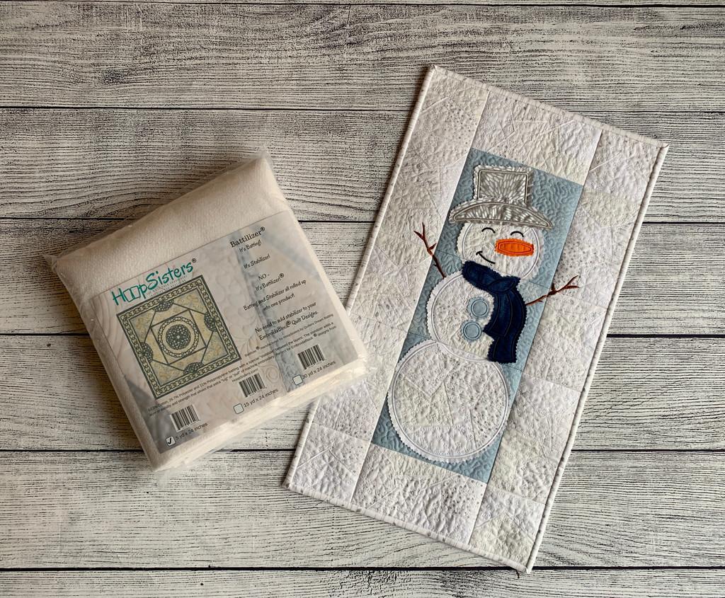 A Snowman Wall Hanging Bundle with 5yds Battilizer