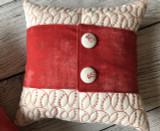 Baseball Pillows & Wrap with Button Covers! Quilt-in-the-hoop style!