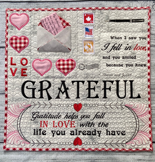 Love Letters Quilt Section - Digital Download