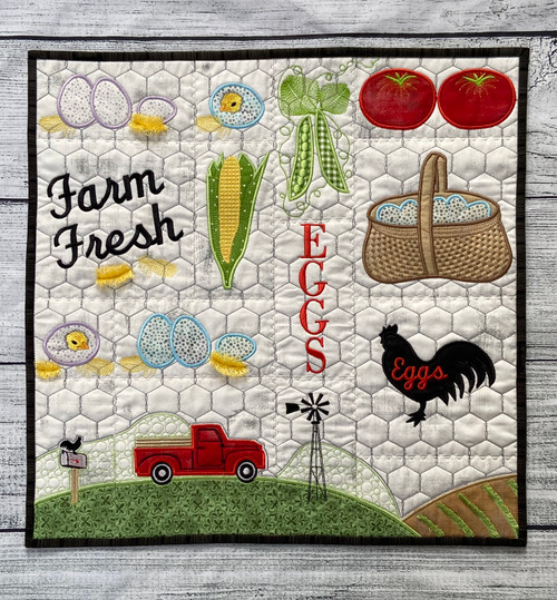 Farm Fresh Quilt Section - Digital Download