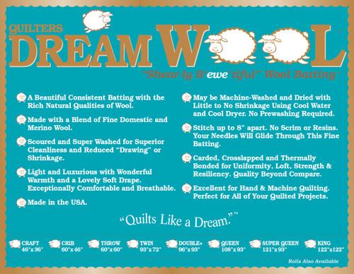 Single Pack Dream Wool Precut - Throw