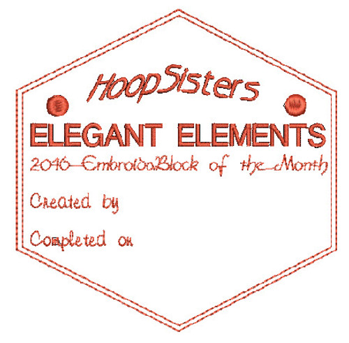Elegant Elements Quilt Label