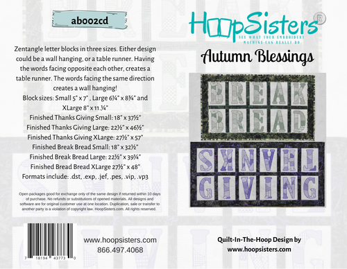 Autumn Blessings - CD Media