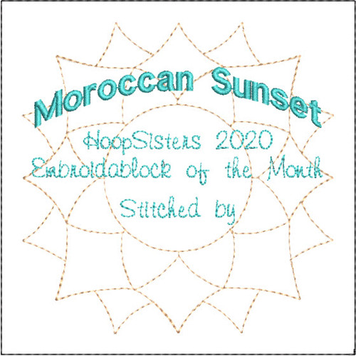 Moroccan Sunset Quilt Label