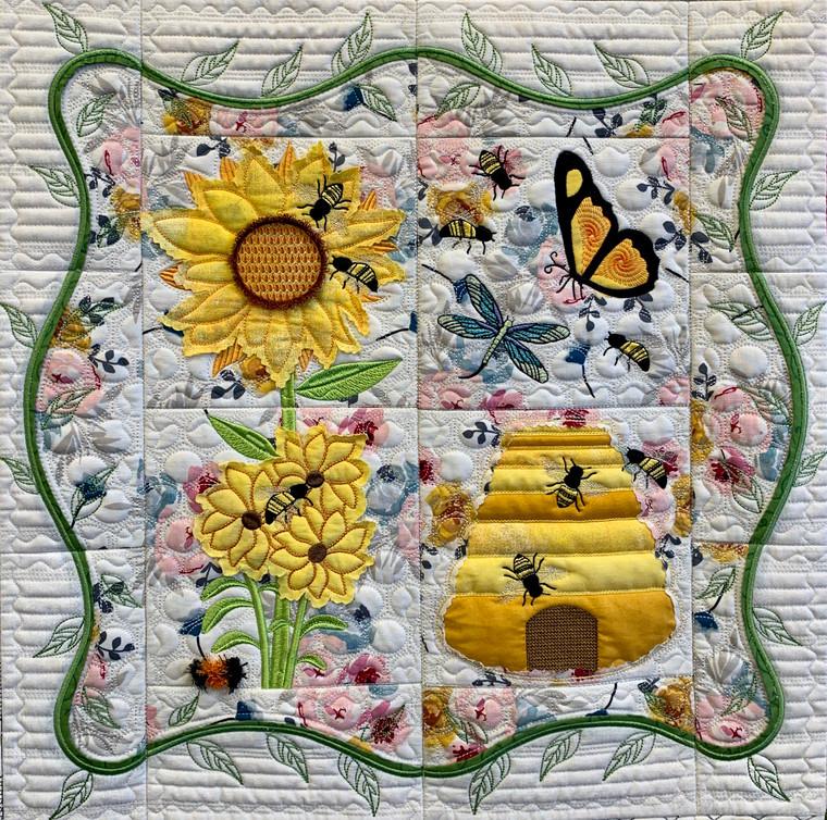 Honeybee Quilt Section - Digital Download