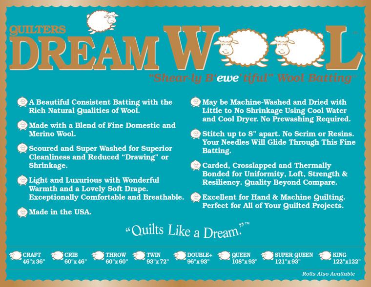 Dream Wool Precut Package - Twin