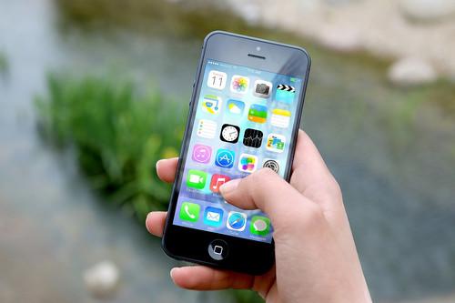 smart phone depicting mobile app menu