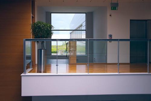elevator bay in office building