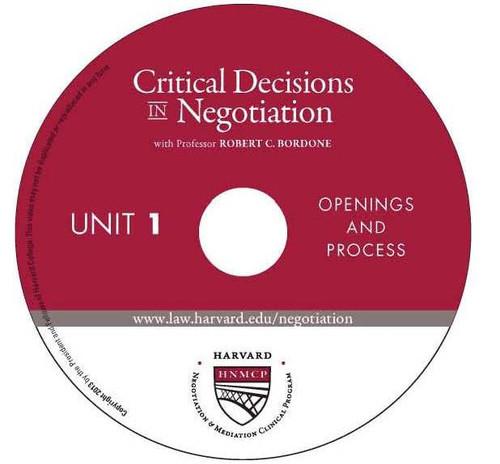 Harvard Negotiation & Mediation Clinical Program Critical Decisions in Negotiation Logo