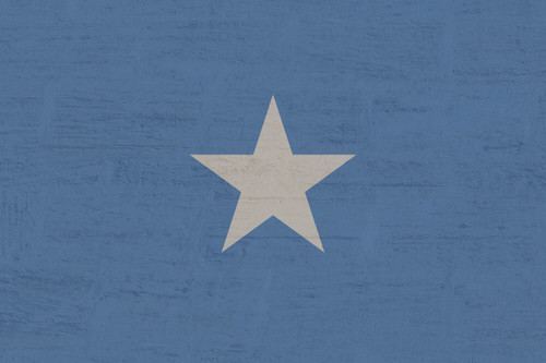 white star on blue background