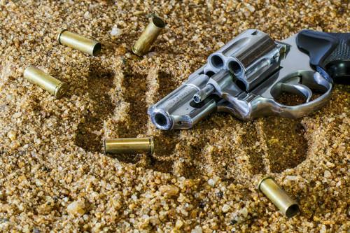 empty gun found on gravel