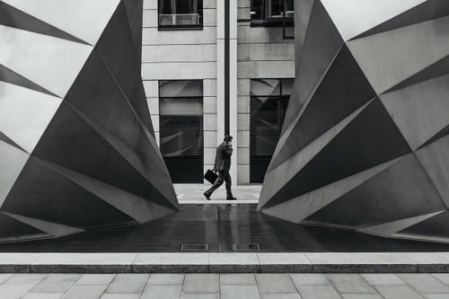 businessman seen walking from a distance