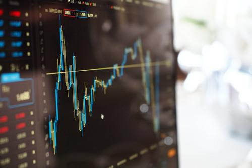 screen depicting stock value