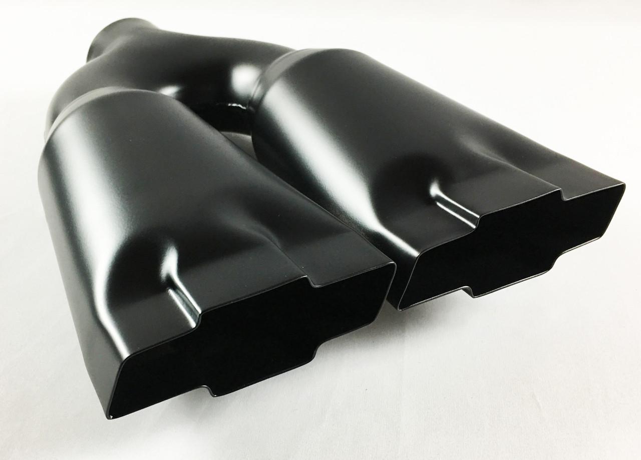 """2.5/"""" Inlet Black Coated Stainless Steel Muffler Resonator W//o Tip For CHEVROLET"""
