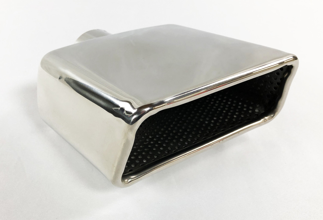 """Exhaust Tip 7.75 X 2.25/"""" Outlet 10.00/"""" Long 2.50/"""" Inlet Rolled Rectangle W225775"""