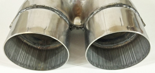 Exhaust Stamped X Pipe 2.25 Diameter Dual Inlet to 2.25 Diameter Dual Outlets Stainless Steel WSXP225-225SS Wesdon Exhaust Stamped X Pipe
