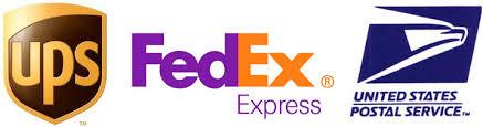Shipping via UPS, FedEx, and USPS