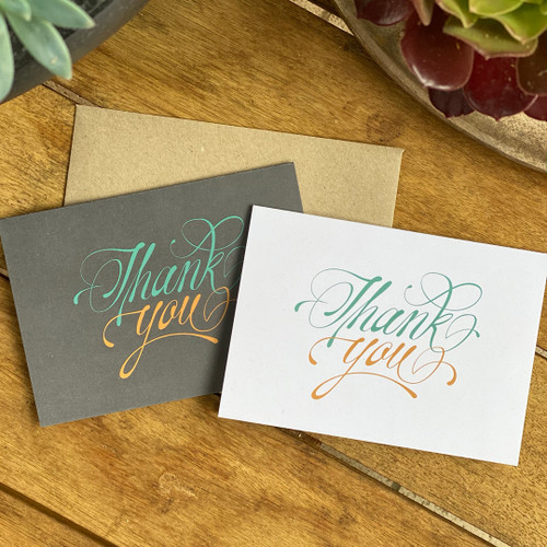 Pack of 5 thank you cards with envelopes