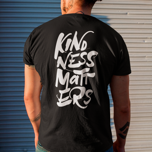 Mens Kindness Matters AS Colour tee - with back design