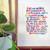 Rainbow brush calligraphy print in frame.