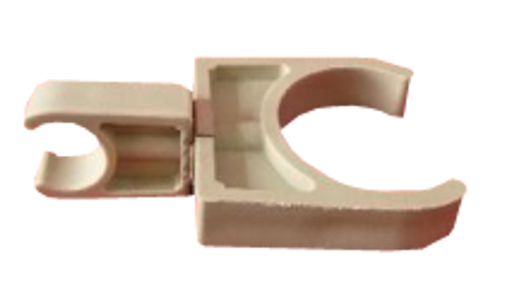 AX1-FP1-FP2-DBCP Plastic Pixel Tube Double Clip Holder to attach to T-Bars, trussing, round rails and tables.