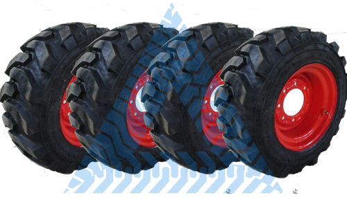 10X16.5 SKS TIRES AND WHEELS AND POLYFILLED (SET OF 4)-100% FLATPROOF TIRES FOAM FILLED