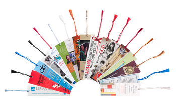 1.5 x 7 Premium 16pt Custom Bookmarks with Chainette Tassels