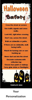 Halloween, Trick-or-Treating Safety 2.75 x 8.5 Personalized Premium 16pt Custom Bookmarks