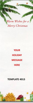 Merry Christmas, Warm Wishes 2.75 x 8.5 Personalized Premium 16pt Custom Bookmarks
