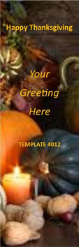Happy Thanksgiving Theme 2.75 x 8.5 Personalized Premium 16pt Custom Bookmarks