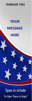 In Valor There Is Hope, Patriotic Theme 2.75 x 8.5 Personalized Premium 16pt Custom Bookmarks