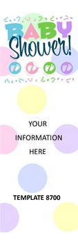 Baby Shower Invitation 2.75 x 8.5 Personalized Premium 16pt Custom Bookmarks
