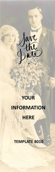 Wedding, Save The Date 2.75 x 8.5 Personalized Premium 16pt Custom Bookmarks
